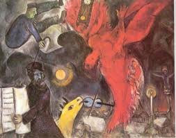 upadły anioł-Marc Chagall